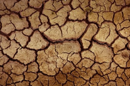 Dry red clay soil texture, floor background