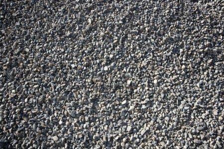 Gravel closeup background gray color