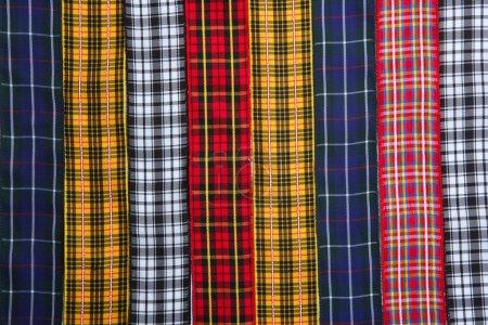 Scottish tartan fabric tapes pattern background