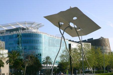 Barcelona city sculpture David Goliat