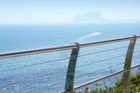 Stainless steel balcony mediterranean sea moraira