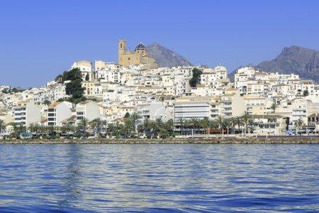Altea Alicante province Spain view from blue sea