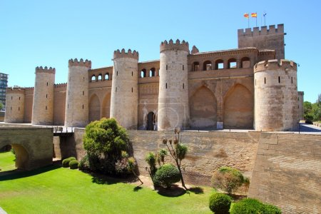 Aljaferia palace castle in Zaragoza Spain Aragon
