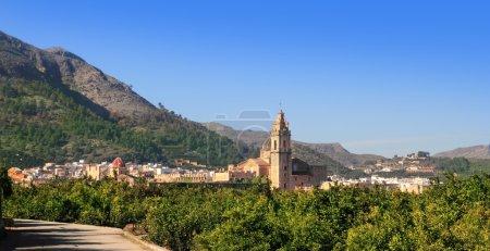 Simat de Valldigna village and Monasterio Santa Maria