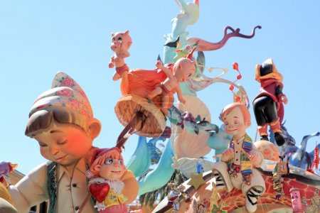 Fallas Valencia papier mache popular fest figures