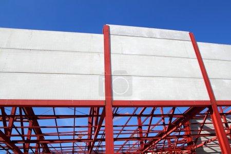 Industrial building construction steel structure concrete