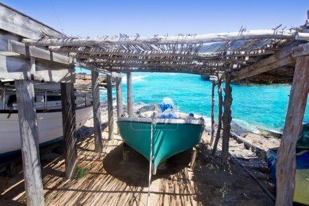 Es Calo escalo Formentera Ibiza beached boat