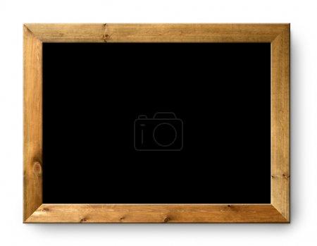 Photo pour Noir tableau noir blanc noir espace de copie de tableau noir - image libre de droit