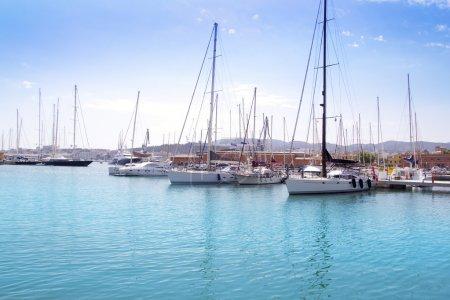 Marina port in Palma de Mallorca at Balearic Islands