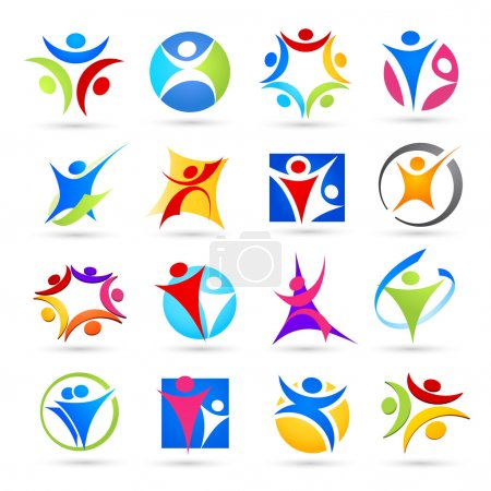 Photo for Collection of abstract icons. Vector illustration - Royalty Free Image