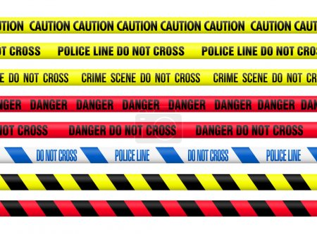 Illustration for Tapes collection used by the Police around the World - Royalty Free Image