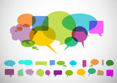 Differents forms of speech bubbles with fresh colors