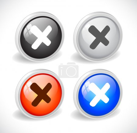 Color 3d buttons for web. Vector...