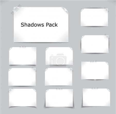 Illustration for Set of different complex shadows. Vector illustration. - Royalty Free Image