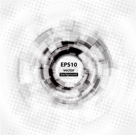 Abstract Techno Circle background. Eps 10.