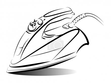Drawing of the iron, vector illustration