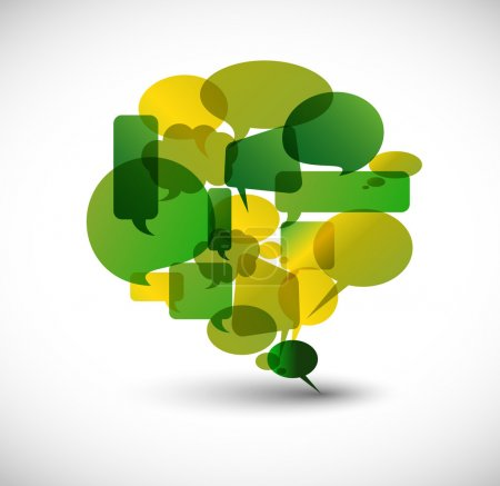 Illustration for Big green speech bubble made from small bubbles - Royalty Free Image