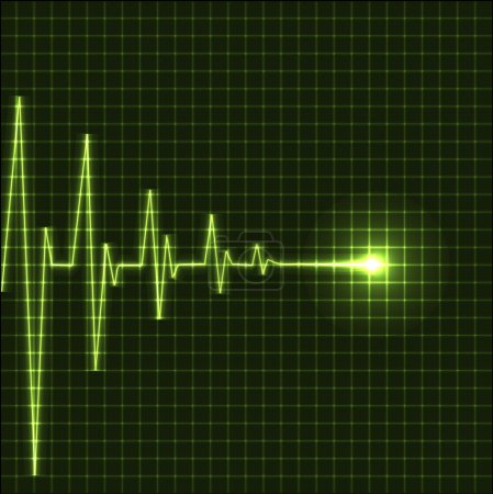 Abstract heart beats cardiogram illustration - vec...
