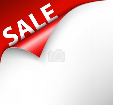 Red sale corner background