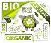 Set of bio eco organic elements