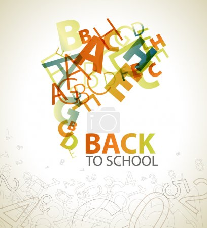 "Abstract ""Back to School"" background"