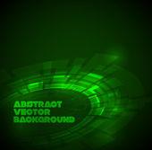 Abstraktní tmavě zelené technické zázemí