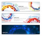 Set of colorful technical banners