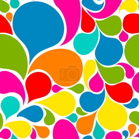 Illustration for Colorful abstract seamless pattern made from various spatters - Royalty Free Image