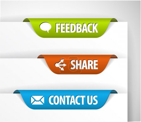 Vector Feedback, Share and Contact Labels