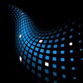 3D abstraktní dynamické modré pozadí