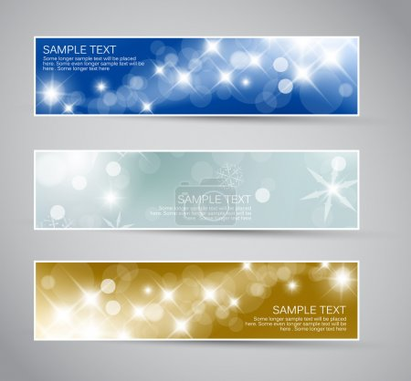 Photo for Set of vector christmas - New Year horizontal banners 2012 - Royalty Free Image