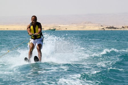 Photo for Man doing water sports in the sea - Royalty Free Image