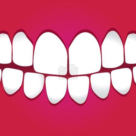 White teeth gums