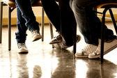 jambes de l'adolescent