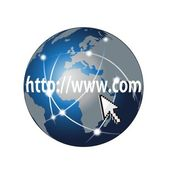 Web search and global network on a white
