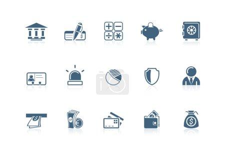 Illustration pour Les icônes de la banque the Picco series - image libre de droit