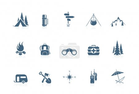 Illustration for Camping icons | piccolo series - Royalty Free Image