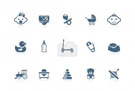Photo pour Icônes de bébé | série de Picco - image libre de droit