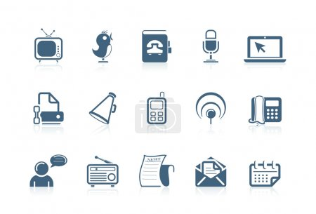Illustration for Social and communication icons | piccolo series - Royalty Free Image