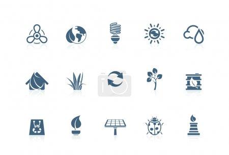 Illustration pour Icônes de l'environnement série XoPiccolo - image libre de droit