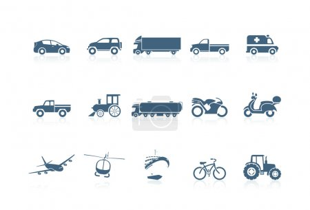 Illustration for Transportation icons | piccolo series - Royalty Free Image