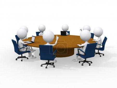 Photo pour Concept de réunion d'affaires - image libre de droit