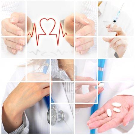 Photo pour Collage médical. Assurance maladie image conceptuelle . - image libre de droit