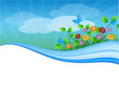 Summer meadow background with place for your text