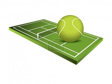 3d Tennis field vector