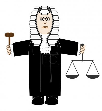 Judge in robes