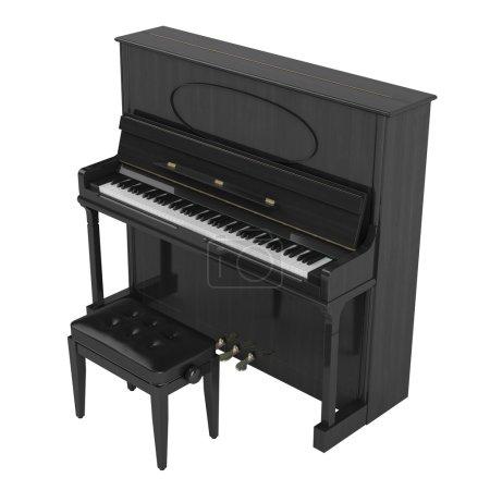 Photo pour Piano droit ou vertical isolé sur fond blanc - image libre de droit