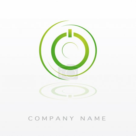 Illustration for Logotype switch on ecology for company - Royalty Free Image