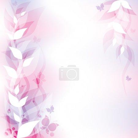 Illustration pour Gracieux fond abstrait violet avec des éléments floraux - image libre de droit