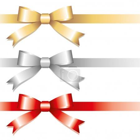 Illustration for Set of glossy bows on white background - Royalty Free Image